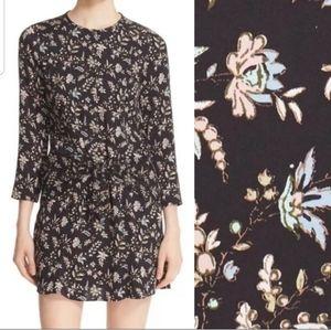 Veronica Beard Stella Floral Print Silk Dress